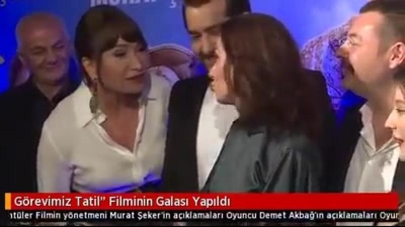 Our dear Filiz gives the interview on Görevimiz Tatil Gala 21.02.18
