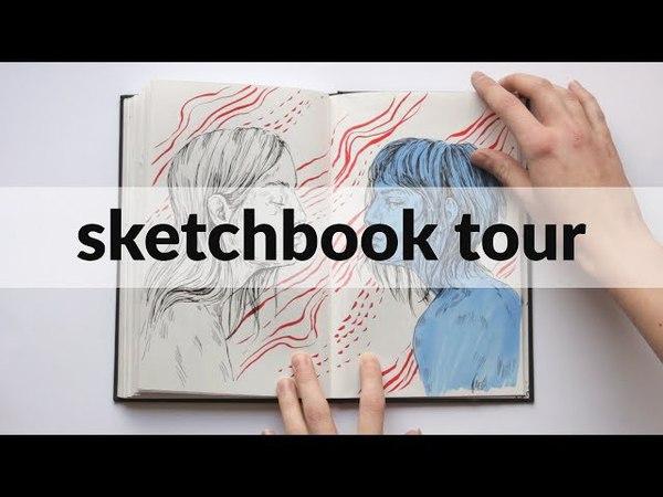 Sketchbook flip through 2016 2017 sketchbook tour by Daria Golab