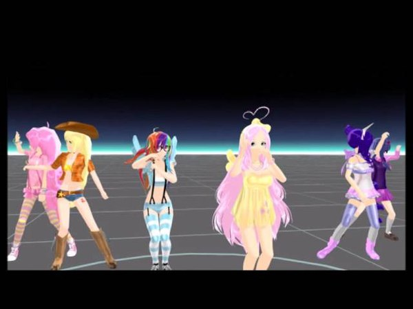 【MMD】マジLOVE1000%{MLP Human Version}