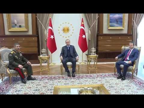 Türkiyə Prezidenti Azərbaycanın Müdafiə nazirini qəbul edib - 29.03.2018