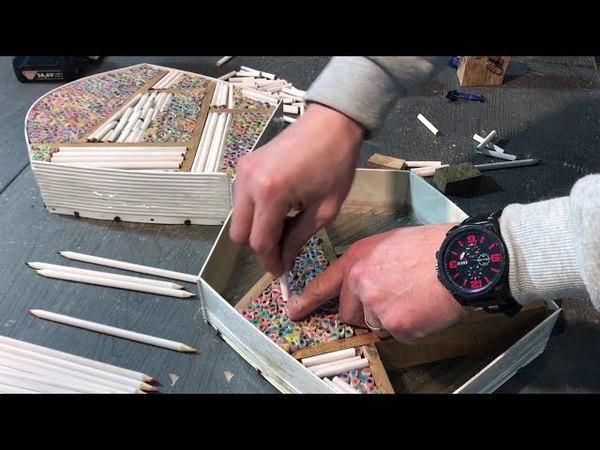 Pencils and Epoxy Resin Amazing Bag Карандаши и эпоксидная смола Удивительная сумка