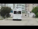 Новенькая ТролЗа маневрирует на автономном ходу по территории депо №1