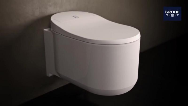 Унитаз-биде, управляемый с помощью пульта ДУ или смартфона
