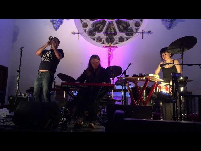Peter Evans, Ron Stabinsky Shayna Dunkelman @ Park Church Co-op 7-14-17 3/3