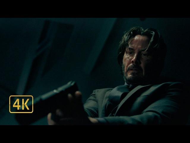 Киллеры пытаются убить Джона Уика в его доме. Джон Уик (2014) 4K ULTRA HD