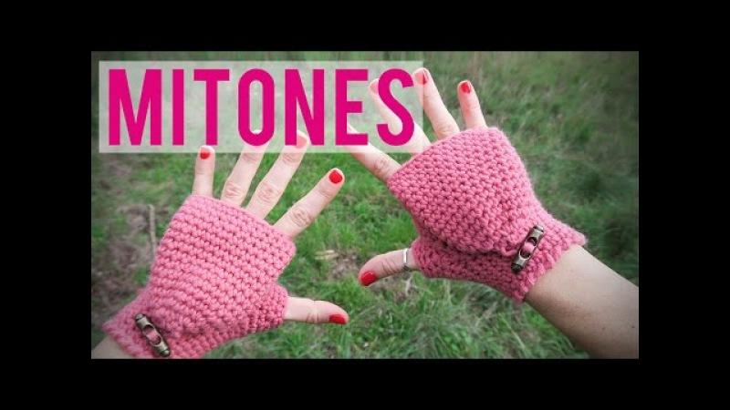 Mitones de ganchillo Fingerless gloves Mittens