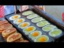 Яйцо торт удивительная уличная еда из яиц Дакка Бангладеш