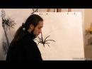 Как рисовать траву при помощи живописи у-син 1. Обучение китайской живописи и жив