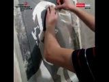 Трафаретная техника нанесения штукатурки..
