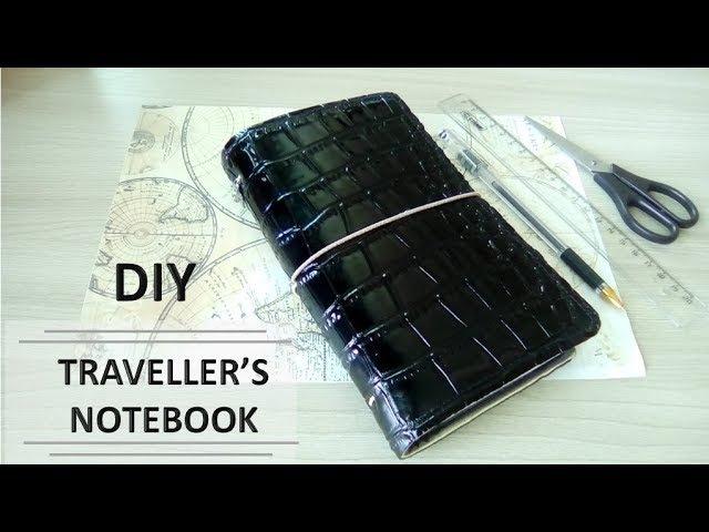 Как сделать ежедневник с нуля   DIY Traveller's notebook