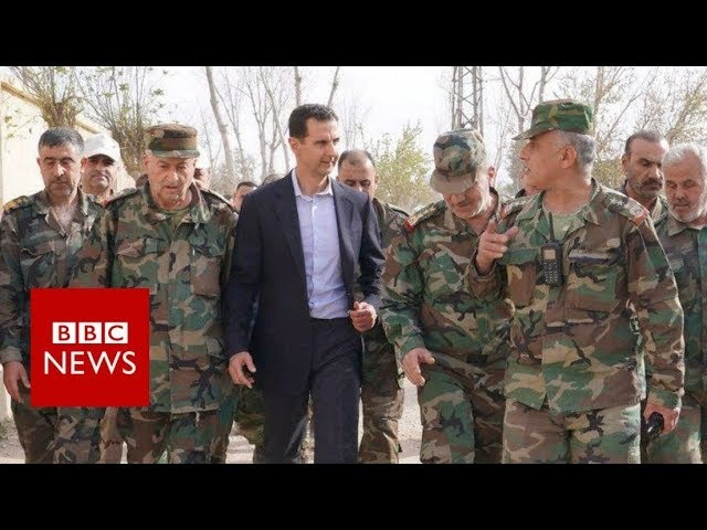 Syria war: President Assad's frontline visit - BBC News