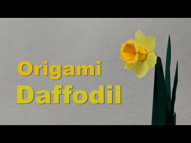 Easter Origami Tutorial: Daffodil / Narcissus (Assia Brill)