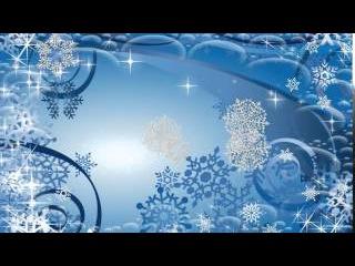 Снежинки весело кружатся - Футажи для видеомонтажа в Full HD(1080p) качестве