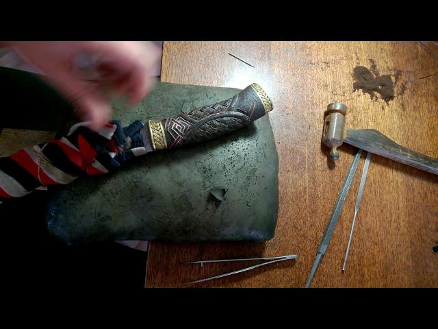 Инкрустация рукояти ножа Пума
