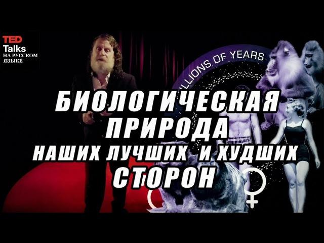TED на русском - БИОЛОГИЧЕСКАЯ ПРИРОДА НАШИХ ЛУЧШИХ И ХУДШИХ СТОРОН - Роберт Сапольски