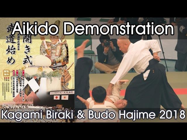 Aikido Demonstration Kuribayashi T Mori T Oyama Y Suzuki T Kagamibiraki 2018