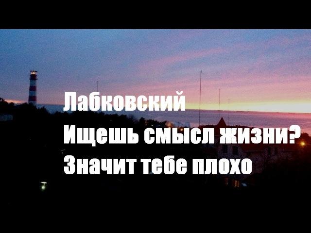 Ищешь смысл жизни - значит тебе плохо. Михаил Лабковский. Серебряный Дождь. Звук.