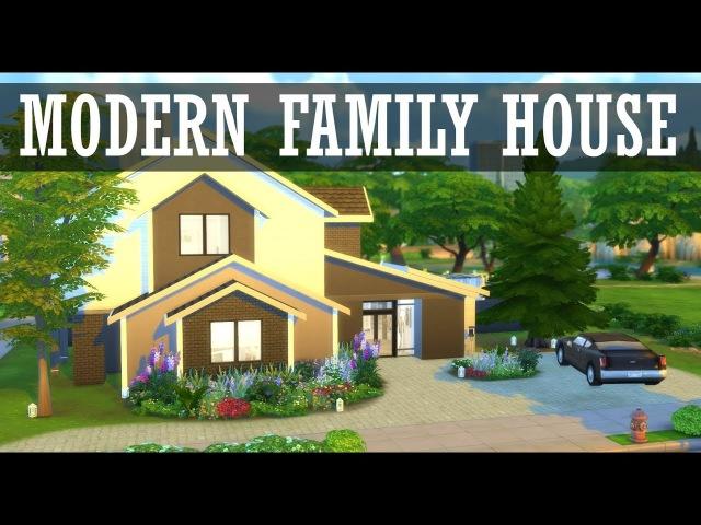 The Sims 4: Speed build | Modern family house | Современный семейный дом