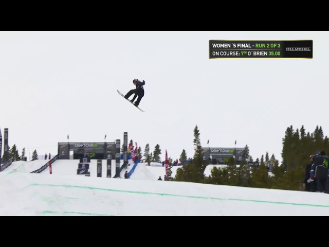 Spencer O'Brien First Place Slopestyle Winning run | Dew Tour Breckenridge 2017