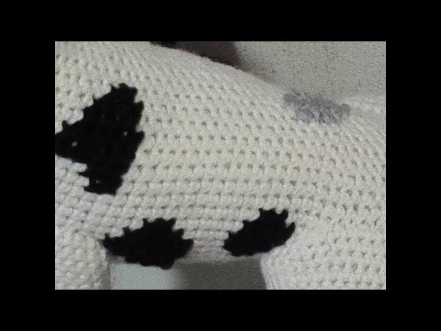 Как вышить крестиком по вязке. How to embroider a cross-stitch. Amigurumi. Crochet. Амигуруми.