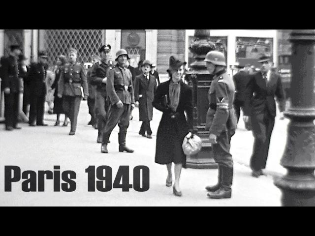 Paris 1940 - Deutsche Besatzung - German Occupation - l´Occupation allemande, film: color/bw