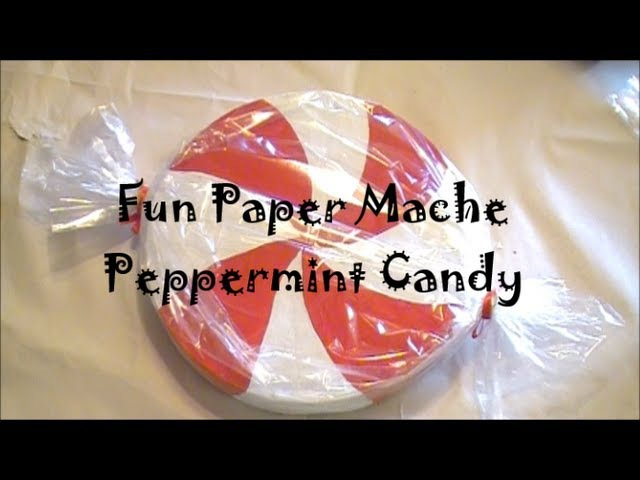 DIY Giant Paper Mache Peppermint Candy