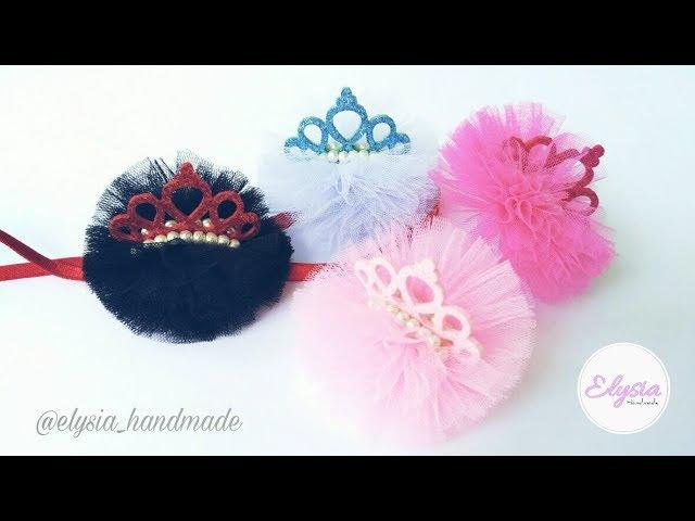 Mini Tulle Crown Headband | DIY by Elysia Headband