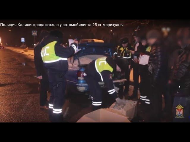 Инспекторы ГИБДД обнаружили в автомобиле калининградца 25 кг марихуаны