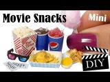 Cute Mini Movie Snack Tutorial DIY Popcorn, Cotton Candy, Icee +More