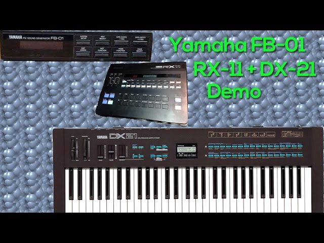 Yamaha DX-21, RX-11, FB-01 Demo