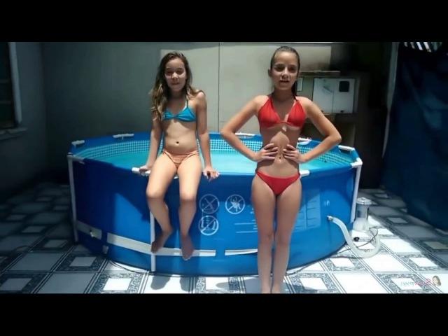 Desafio da Piscina Isabella Laura - Water Challenge - Desafio Da Piscina Youtube