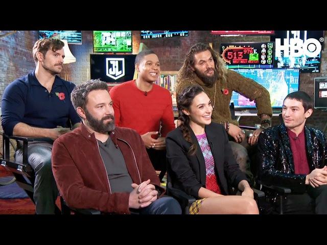 The Justice League Interview w Ben Affleck, Gal Gadot, Jason Momoa More | HBO