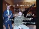 Elegy para fliscorno y piano del compositor Armenio Alexander G Arutunian