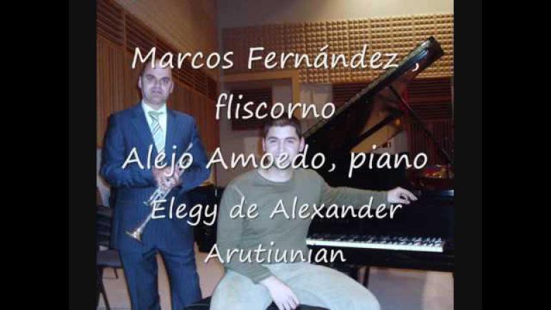 Elegy para fliscorno y piano del compositor Armenio, Alexander G. Arutunian