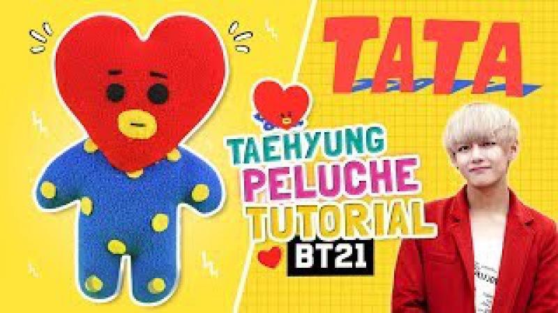 DIY BTS ☆ Como hacer el PELUCHE de TATA de BT21 (TaeHyung) ♡ TATA DOLL TUTORIAL l Fabbi Lee