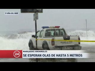 Reiteran llamado a la precaución por marejadas anormales en el borde costero