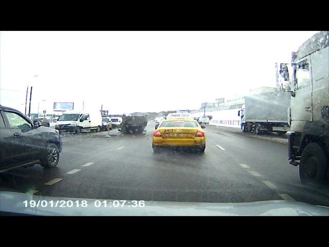 Серьезная авария на Бесединском Шоссе (Москва, р-н Марьино)