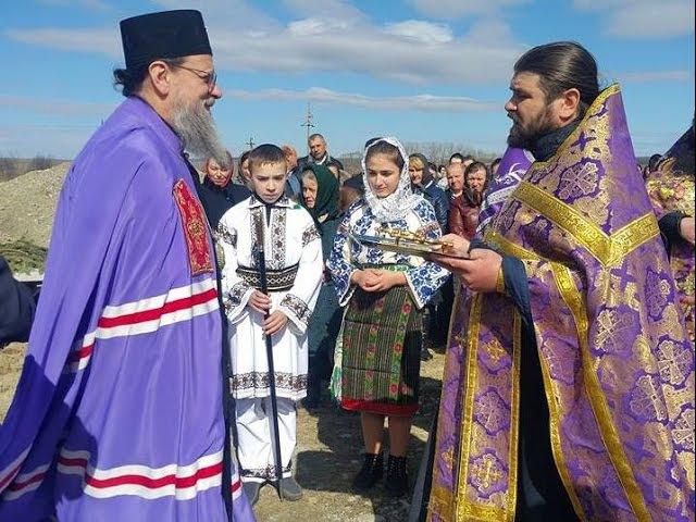 Sfinţirea pietrei Bisericii Sf Ierarh Nectarie de Eghina din satul Iordăneşti 27 03 2017