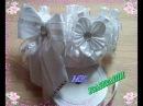 Праздничная Резинка на пучок (гульку). Канзаши. МК. Festive Eraser on a bun (bun)