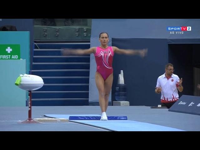 Oksana Chusovitina VT || 2018 Baku World Cup