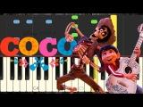 Un poco loco de Coco - Miguel & Hector - Synthesia - Piano Tutorial - Cover - Normal Lento