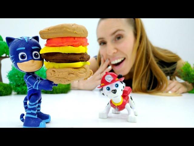 Giochi per bambini-PJMasks Super pigiamini e PawPatrol preparano Marshmallow-Giocattoli a scuola