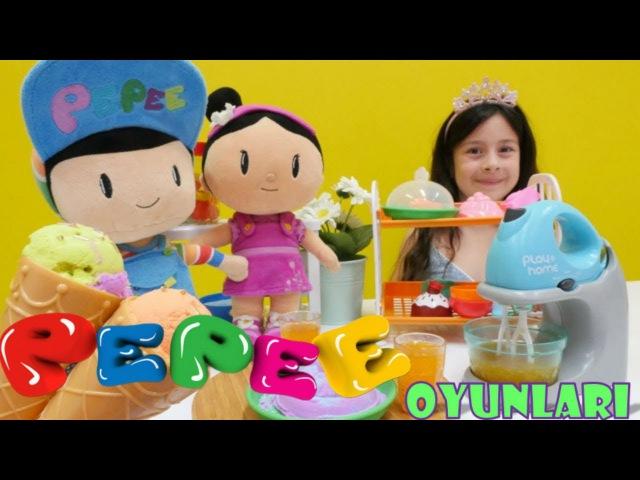 Pepee ve Şila Oyun Hamuru ile Yemek Oyunu Yarış Oyunu Bebek Bakma Oyunu Evcilik oyuncakları