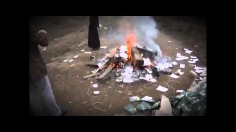 Монахи сжигают книги еретика А И Осипова