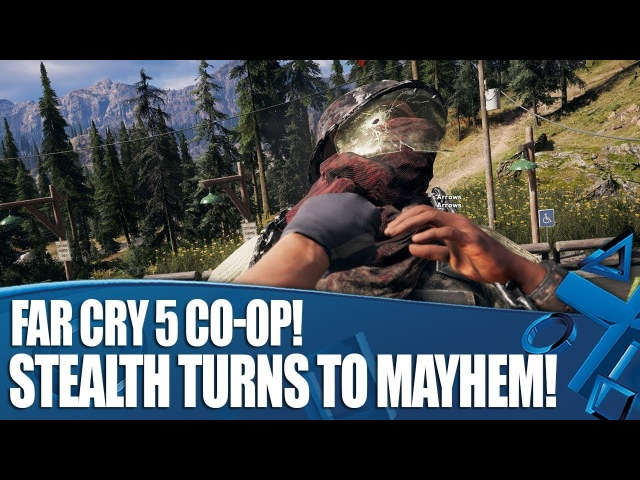 Far Cry 5 Co-op Gameplay - Stealth Turns To Mayhem! And bears