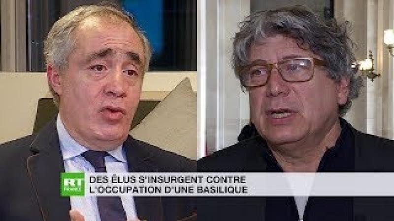 Migrants dans la basilique Saint Denis Coquerel s'explique Ouchikh condamne
