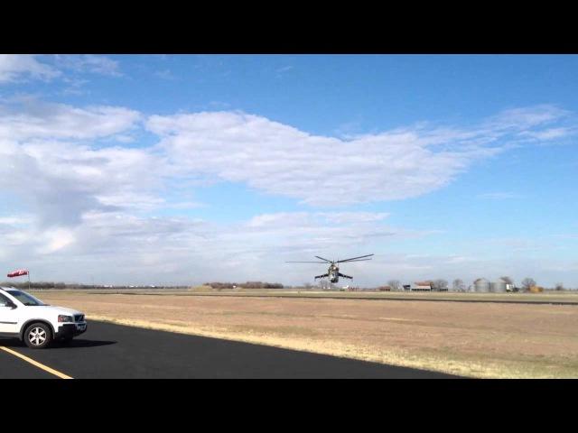 Mi-24 flyby