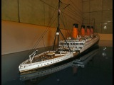 BTMS TITANIC sinking The movie (BTMS=Bath Tube Model Ship) my best video model 1400