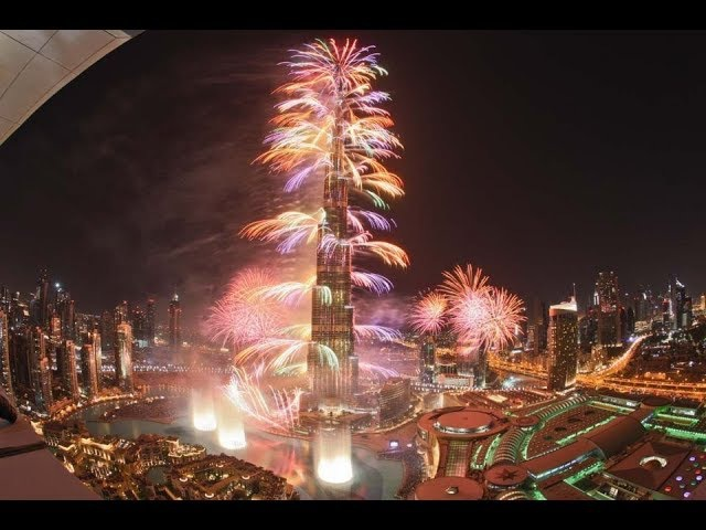 HAPPY NEW YEAR 2018 FIREWORKS DUBAI UK USA