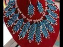 the tutorial on how to make this elegant leaf beaded necklace.